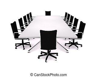 Boardroom - 3D rendering of a business meeting room