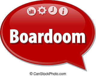 Boardroom   Business term speech bubble illustration