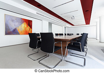 Boardroom in the business centre - Boardroom with long table...