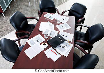 Boardroom - Image of empty boardroom (Image of table and six...