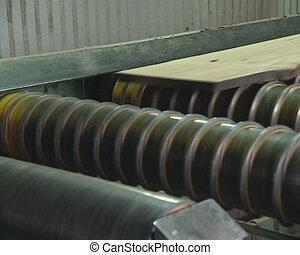 Boards are prepared in the sawmill.