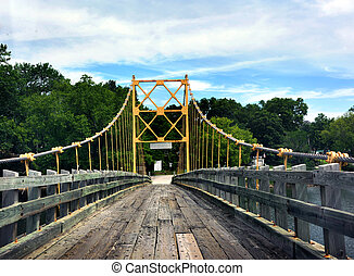 Boards for Crossing - Historic suspension bridge over the ...