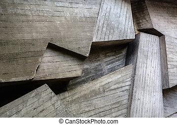boards., grå, industriell, gammal, konkret, yta, bakgrund., intrycken, grov
