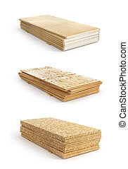 boards., osb, anders, set, illustratie, gips, triplex,...