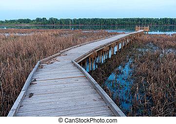 Boardwalk and Marsh in Minnesota River Wildlife Refuge