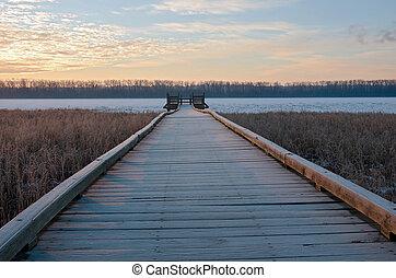 Boardwalk and Platform in Wildlife Refuge