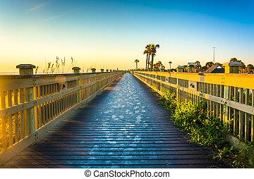 Boardwalk at the beach in Palm Coast, Florida.