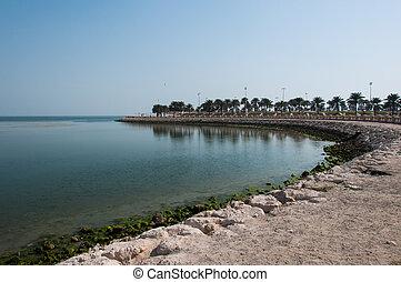 Boardwalk in Al Khobar, Saudi Arabia