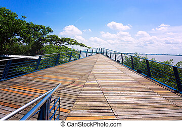 Boardwalk in Guayaquil - Boardwalk on the waterfront in...