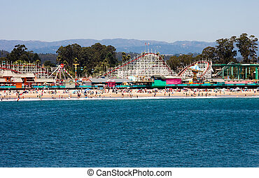 Boardwalk in Santa Cruz, California