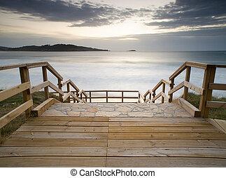 Boardwalk in the beach
