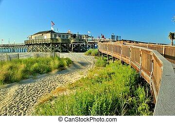Boardwalk leading to the pier