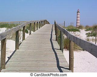 Boardwalk Lighthous - Beach side boardwalk leading up to...