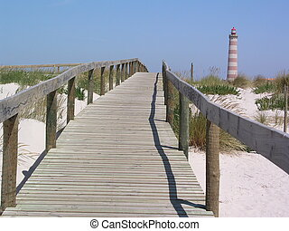 boardwalk, lighthous