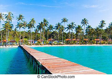 boardwalk on beach.