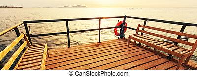 Boardwalk on the beach - Boardwalk on beach
