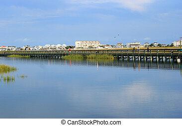 Boardwalk on the inlet 2 - Boardwalk through the marsh in ...
