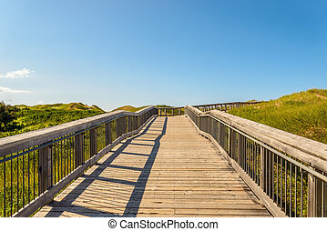 Boardwalk to Brackley Beach Provincial Park Beach