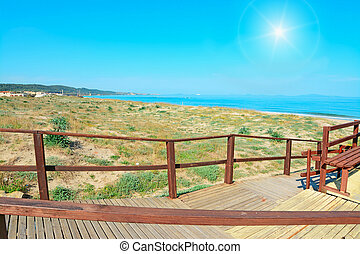 boardwalk under the sun