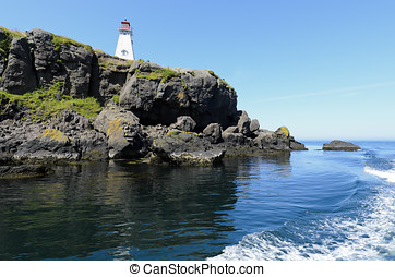Boars Head Lighthouse built in 1864 in Tiverton Nova Scotia...