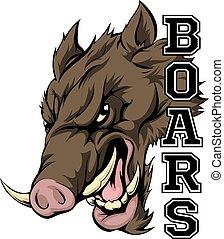Boars Sports Mascot