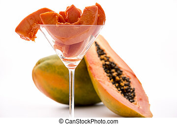 Boasting meat tenderizing powers - the Pawpaw fruit - Peeled...