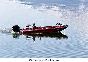 boat., 钓鱼