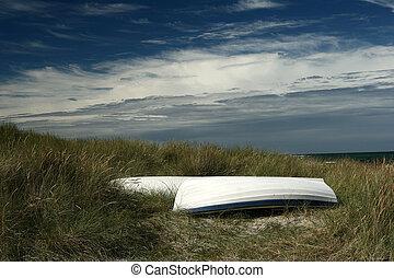 boat 2 - fishing boat on a beach in denmark