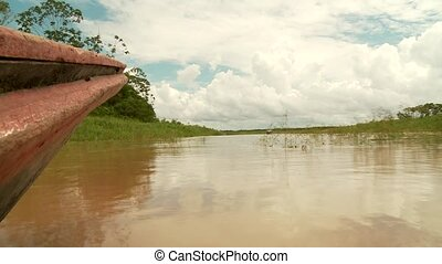 Boat, Amazon River, South America - Amazon River, South...