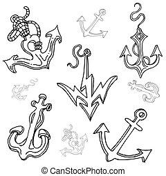 Boat Anchor Drawing Set