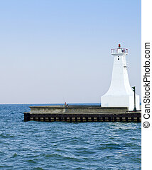 Boat and a lighhouse