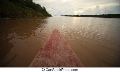 Amazon River - Boat At Amazon River
