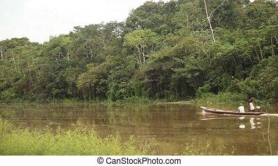Boat At Amazon River, Peru