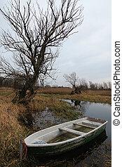 Boat at Havel river