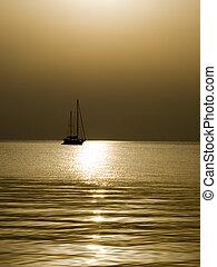 Boat At Sunrize