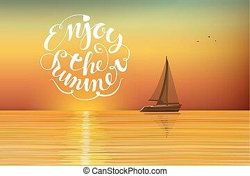 Boat at sunset