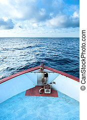 Boat bow - A captain's perspective of the bow of a boat ...