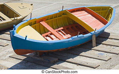 boat., bunte