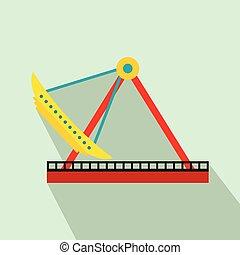 Boat carousel flat icon