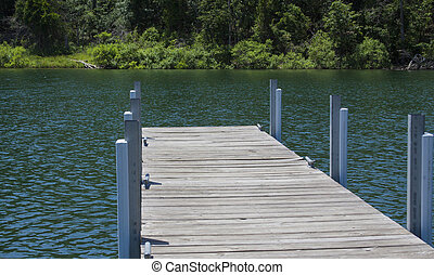 Boat Dock - Boat dock on a lake