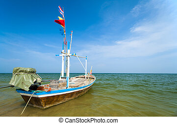 Boat docking at the beach