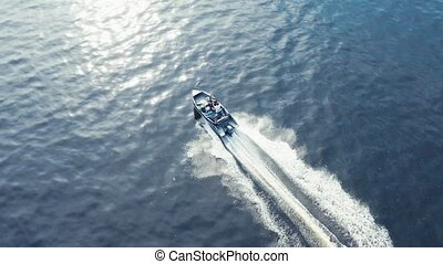 Boat fast moving