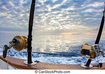 Boat fishing rods