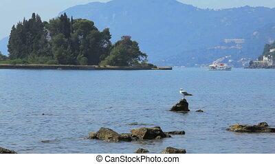 Boat from Pontikonisi island