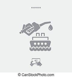 Boat fuel icon