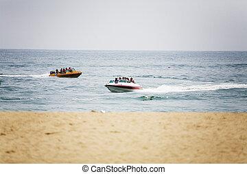 ??boat, geschwindigkeit, meer