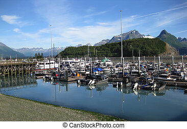 Boat Harbor at Valdez Alaska - Boats of all shapes and sizes...