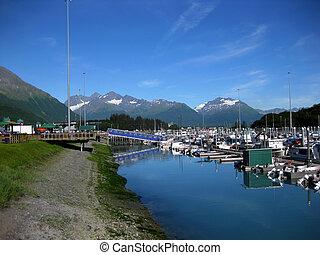 Boat Harbor at Valdez Morning Reflections - Valdez small ...