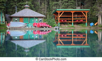 Boat House - Serene boat house at Emerald Lake, Yoho...