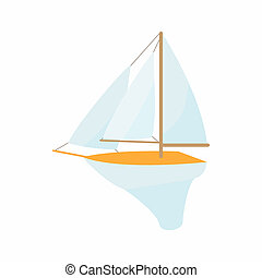 Boat icon, cartoon style